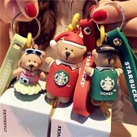 钥匙扣小熊 钥匙挂件女韩国女生礼物生日个性创意 包包挂饰