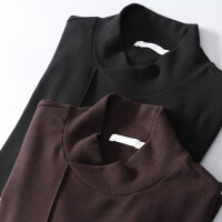 №【2019新款】冬天年轻人穿的百搭 加厚柔软加绒面料 男士半高领长袖T恤上衣打底衫