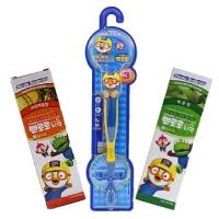 啵乐乐韩国进口水果味儿童牙膏2支和企鹅牙刷组合装