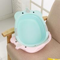 婴儿宝宝用品塑料家用儿童小脸盆子 2个装婴儿洗脸盆可折叠盆
