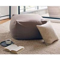 日式懒人沙发 豆包沙发 榻榻米单人躺椅 飘窗阳台卧室客厅小户型单人沙发 懒人椅子尺寸65x65x45cm 可爱女孩豆袋