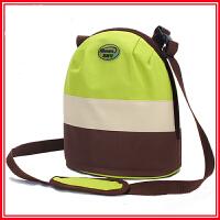双肩背便当包冰代保鲜冷藏保温袋冷藏包便携小号饭桶包手提包圆形