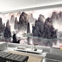 钻石画客厅满钻2018新款5D大幅风景山水国画砖石秀点贴钻石十字绣