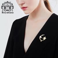 皇家莎莎胸针女仿水晶胸花领针星星别针时尚配饰品情人节生日礼物