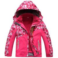 2018款儿童冲锋衣男童女童三合一外套可拆卸两件套户外登山滑雪服