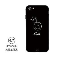 苹果七手机壳简约7plus女款iphone8plus潮牌6s挂绳7p情侣款软