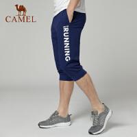 camel骆驼休闲裤 运动春夏透气弹性 舒适健身跑步 七分裤