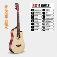 41寸初学者民谣吉他指弹学生男女款40寸新手入门38寸木吉他练习琴
