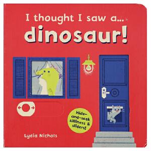 原装正版 英语绘本机关书 I thought I saw a  dinosaur游戏互动操作纸板书 3-6岁