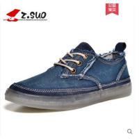走索男鞋牛仔帆布鞋男春夏季韩版男士休闲鞋系带板鞋低帮学生鞋子ZS16106