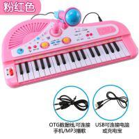 ?可充电音乐拍拍鼓电子琴婴儿童早教玩具小钢琴男女孩01-2-3岁?