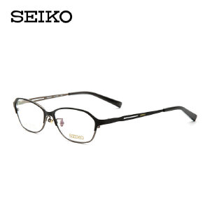 SEIKO眼镜框 精工眼镜女纯钛商务眼镜框架男可配近视眼镜HC-2018