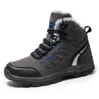 冬季保暖登山鞋男防滑雪地靴女士高帮加绒棉鞋户外运动防水徒步鞋