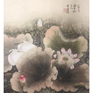 天津美院国画教授  贾广建《荷韵》