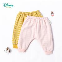 【2件3.5折到手价:48.3】迪士尼Disney 卡通兔子印花双层PP裤新款儿童条纹保暖长裤子183K794