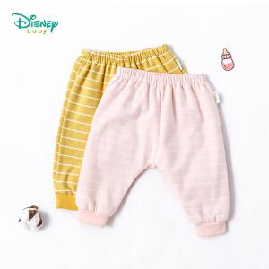 【3件4折】迪士尼Disney 卡通兔子印花双层PP裤新款儿童条纹保暖长裤子183K794