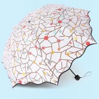 晴雨两用韩国小清新女神折叠雨伞女太阳伞防晒紫外线简约森系学生