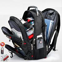 瑞士背包十字双肩包男女韩版商务旅行双肩背包潮帆布学生电脑背包SN6720