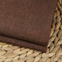 素色加厚亚麻沙发布料纯色棉麻田园面料桌布抱枕坐垫背景软包