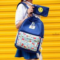韩版书包 女孩子儿童初高中小学生6-12周岁1六6年级双肩背包可爱
