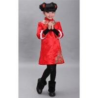 新款儿童女童夹棉旗袍秋冬长袖中式唐装马甲碎花小孩子新年装