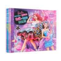 全4册芭比小公主影院蝴蝶仙子与精灵公主芭比之歌星公主芭比花仙子公主和摇滚训练营畅销儿童芭比书女孩卡通动漫画故事绘本书