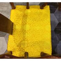 腰形茶桌椅垫功夫茶台椅子组合垫子休闲沙发坐垫中式实木家具 金黄色 金色富贵花