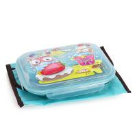 韩国进口Edison爱迪生猫头鹰不锈钢饭盒便当盒学生儿童餐盒分格