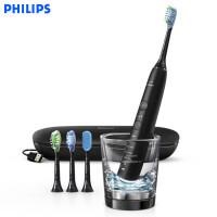 飞利浦电动牙刷HX9924黑色成人款声波震动智能钻石系列牙刷