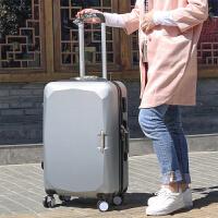 韩国拉杆箱28寸万向轮行李箱拉杆女旅行箱包24寸密码箱26寸学生箱s6 灰色 20寸单箱(送六)