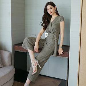 原创女装夏季气质女神范衣服上衣短袖衬衫女修身不规则下摆中长款