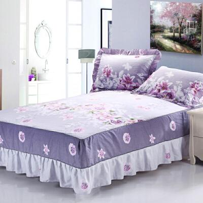 ???纯棉床罩保护单件床裙式1.5米1.8x2.0m围裙防尘床单床套防滑2x2.2