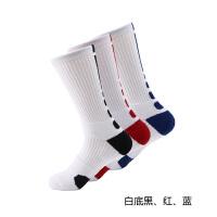 3双装袜篮球袜子男士高筒袜运动袜中筒毛巾底加厚球袜qg. 均码