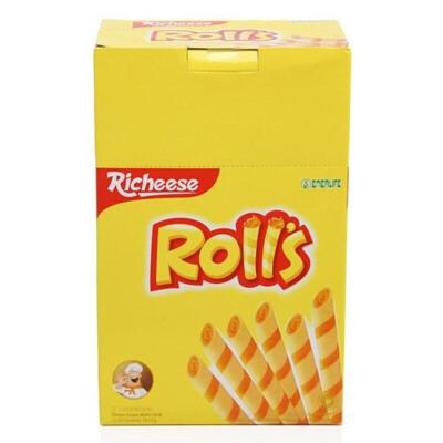 【中粮我买】丽芝士Richeese芝心棒奶酪夹心卷 180g(印尼进口 盒)