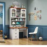 儿童转角电脑桌书桌书架组合一体桌简约电脑台式桌家用学生学习桌