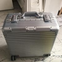 商务韩版拉杆箱万向轮小型铝框行李箱旅行箱16寸18登机箱男女