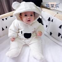 201805064319656女婴儿连体衣冬季加厚宝宝外出抱衣服秋冬装新生儿外套装棉衣0岁1