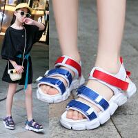 女童凉鞋中大童儿童沙滩鞋2019夏季学生新款防滑软底宝宝公主凉鞋