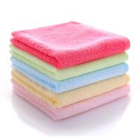 加厚竹纤维小方巾竹炭四方毛巾儿童宝宝洗脸擦手巾棉家用Cn 25x25cm