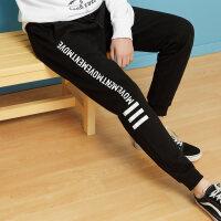 【1件3折到手价:83.7】美特斯邦威旗下4M男运动针织休闲裤春季新款潮流字母图案印花