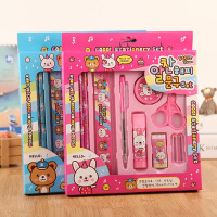 儿童文具套装礼盒学生10件套韩国创意礼物笔盒礼品