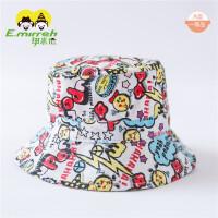 婴儿帽子6-月夏天宝宝太阳帽纯棉儿童遮阳帽女童防晒帽子1983
