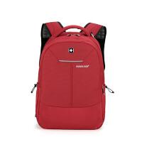 商务背包百搭时尚休闲双肩包男女士户外学生登山旅行包简约15.6英寸电脑包办公上班背包 15英寸