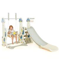 ?儿童滑梯室内幼儿园家用多功能游乐场滑滑梯宝宝秋千组合塑料玩具?