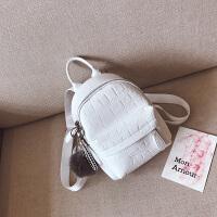 迷你双肩包女潮韩版休闲小背包石头纹时尚女包小包包