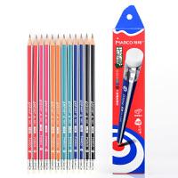 MARCO/马可 9001-12CB 高级书写铅笔12支装/HB 无毒铅三角木杆小学生用作业考试练字笔套装速写笔儿童绘