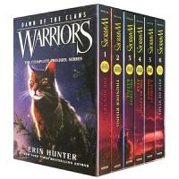 猫武士五部曲1-6册盒装 英文原版 Warriors Dawn of the Clans 猫武士第五部族群黎明 英文版