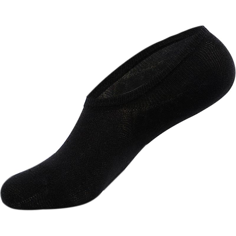5双装船袜男士浅口隐形地板袜夏季薄款浪莎男袜纯棉防滑短筒低帮运动袜
