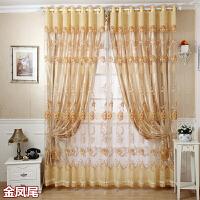 欧式窗帘双层公主风窗纱成品客厅卧室落地飘窗遮光窗帘定制