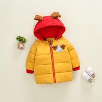 宝宝棉衣女0一1岁冬女童冬装2018新款冬季加厚儿童婴儿外套冬